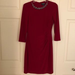 Lauren Ralph Lauren Red Dress Size 4